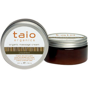 Taio Organic Massage Cream Unscented 8oz