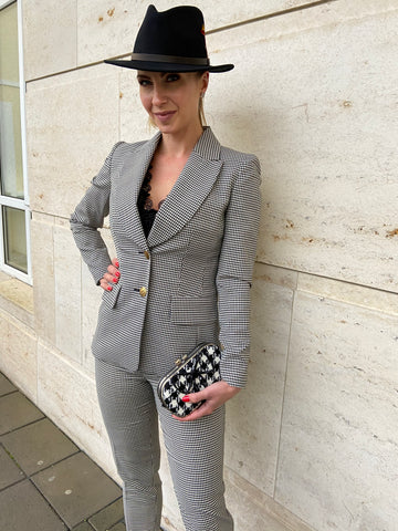Houndstooth Pant Suit