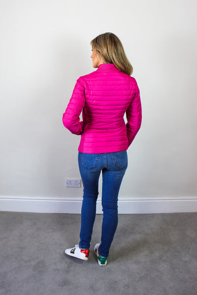 Beaumont Fushia Fitted Puffa