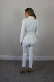 "Ivory Peplum Detail Jacket ""Special Offers """