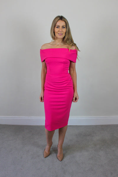Bardot Hot  Pink dress