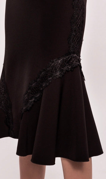 Lace insert Black Skirt