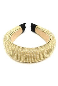 Gold beaded hairband
