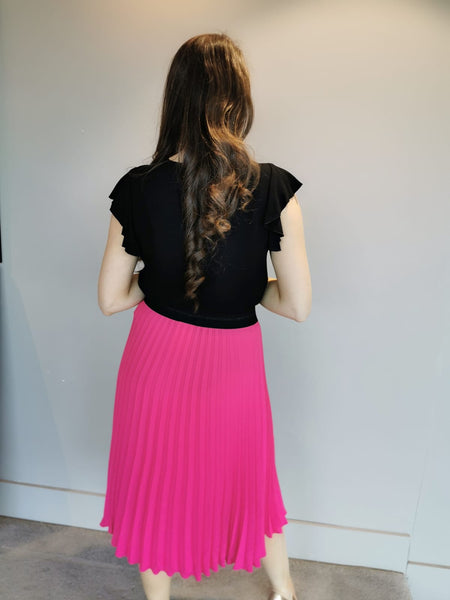 Fushia Pleat Skirt