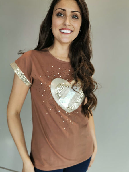 Praline Hearts Top