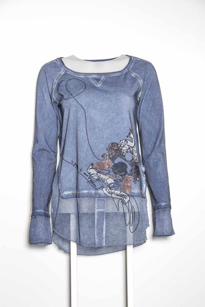 Elisa Cavaletti Blue Detail Top