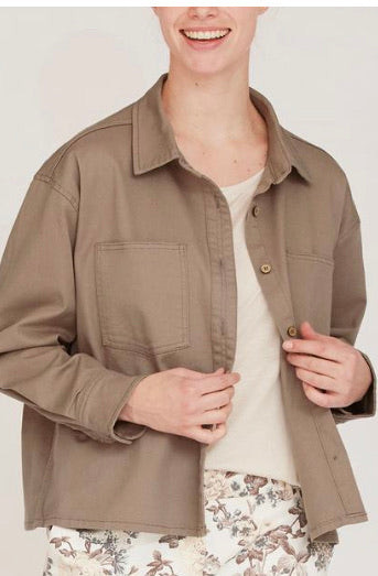 Taupe Denim Jacket