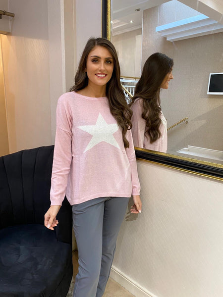 Baby Pink Star Sweater