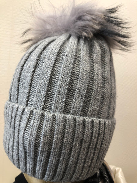 Light grey with matching Pom