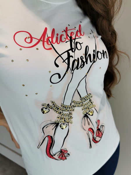 Statement White Fashion Top