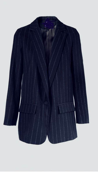 In Store Exclusive Navy Pin Striped Jacket