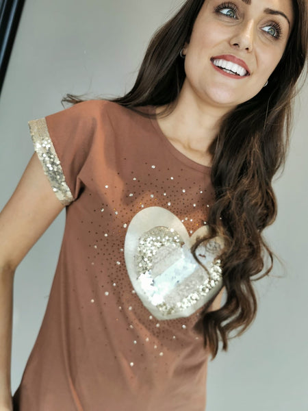 Statement Praline Hearts Top