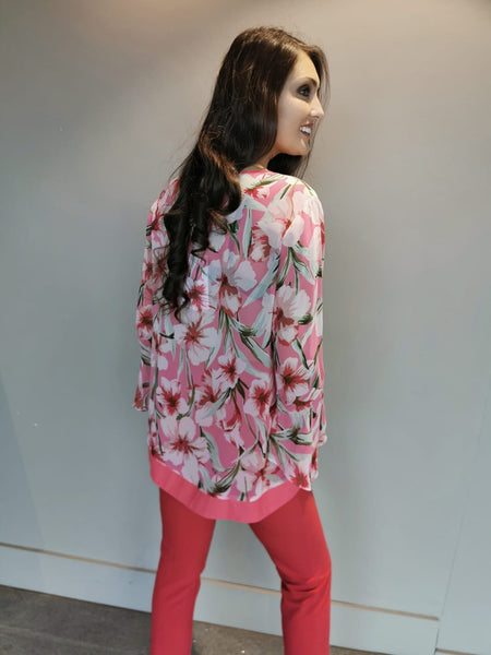 Coral pinks print Top