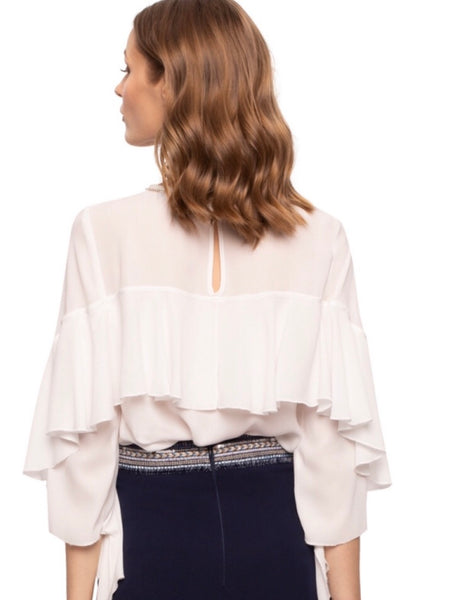 Ivory Frill Back Top