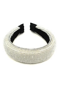 Beaded Silver Hairband
