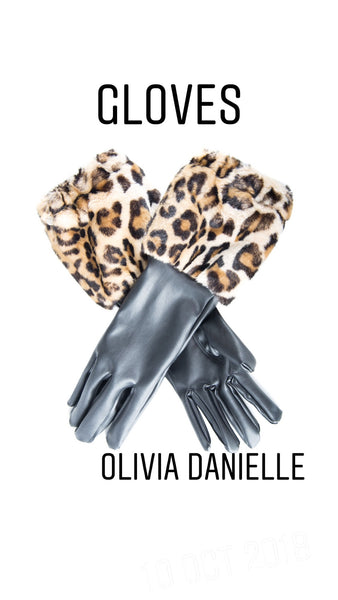 Lucky Lu Animal Print Cuff Gloves