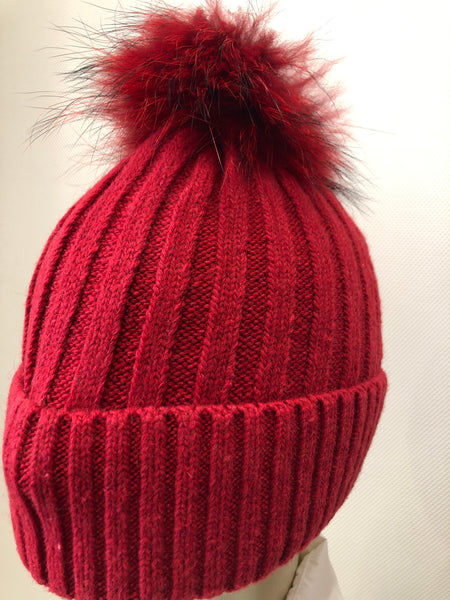 Berry Red matching Pom