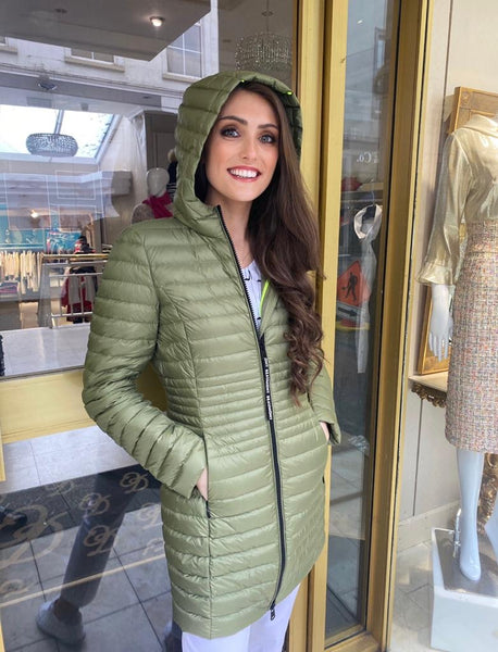 Kakhi long Puffa with Hood