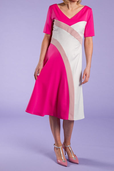Heidi Higgins Dress Pink, Blush, White