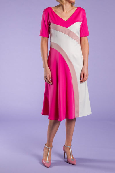 Heidi Higgins ss19 Anneka Dress in Pink, Blush, White