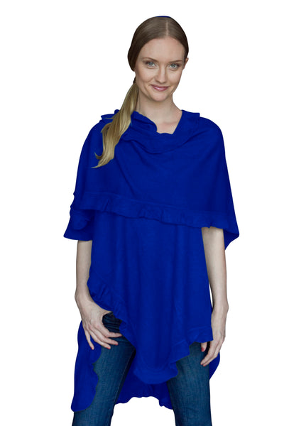 City Ruffle Shawl (Cobalt) - april-marin