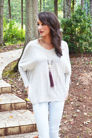 Normandy Fringe Sweater - april-marin