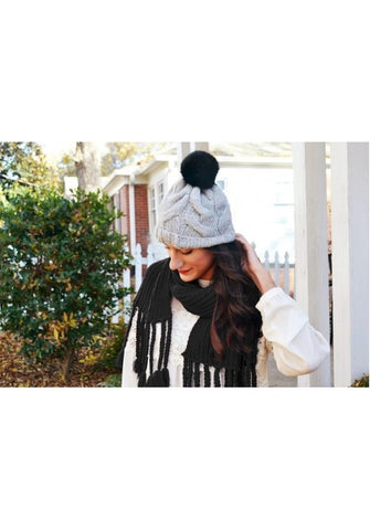Braided Scarf (Black)