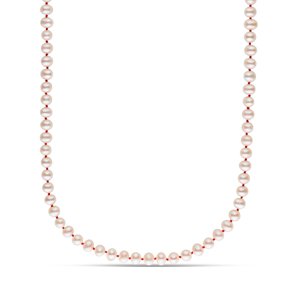 Endless Pearl Strand on Red