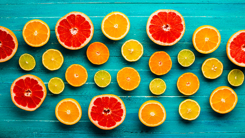 Different citrus fruits