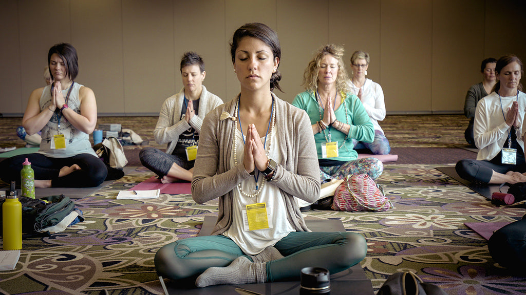 Group yoga and spiritual balance
