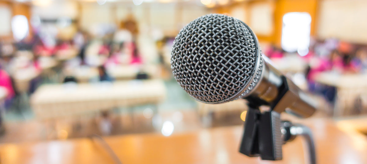 microphone at a speech