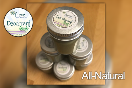 Faeve All Natural Organic Deodorant - Faeve Plant Therapies, LLC