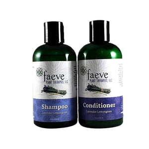 Organic Lavender Lemongrass Shampoo & Conditioner (Vegan Friendly)