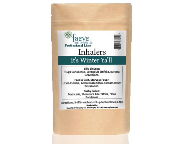 """It's Winter Ya'll"" Inhaler 3 Pack - Faeve Plant Therapies, LLC - All Natural & Organic Products"