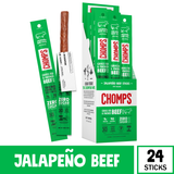 Chomps Grass Fed Jalapeno Beef, 24 Pack
