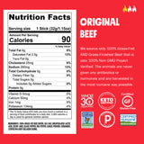 Chomps Grass Fed Original Beef, 10 Pack