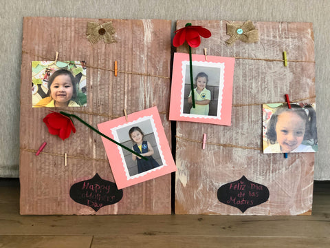 cardboard photo display