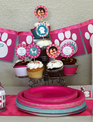 cupcake toppers for puppy party