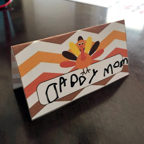 place card Thanksgiving