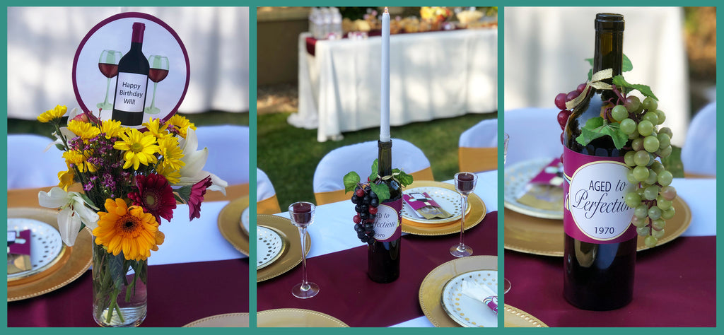 wine centerpieces