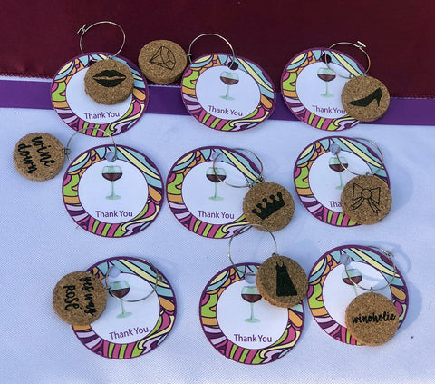wine charms as favors