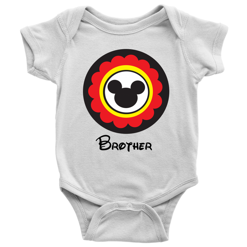 Mickey Mouse Inspired Brother Onesie