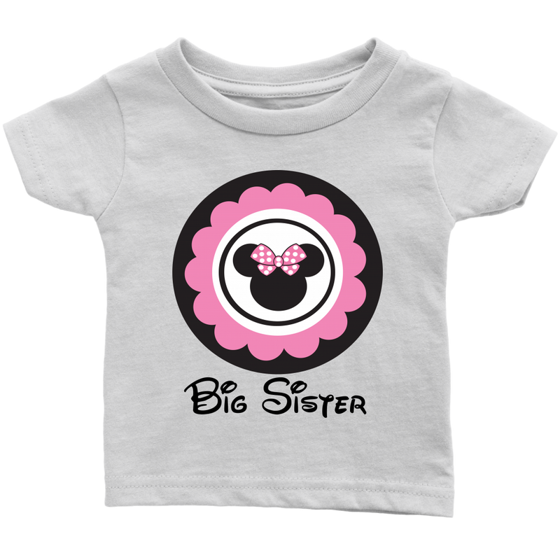 Minnie Mouse Inspired Big Sister Infant T-shirt