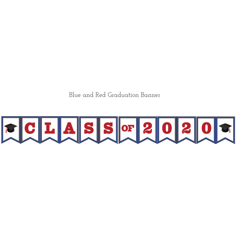 Blue & Orange Graduation Printable Banner (Digital Download)