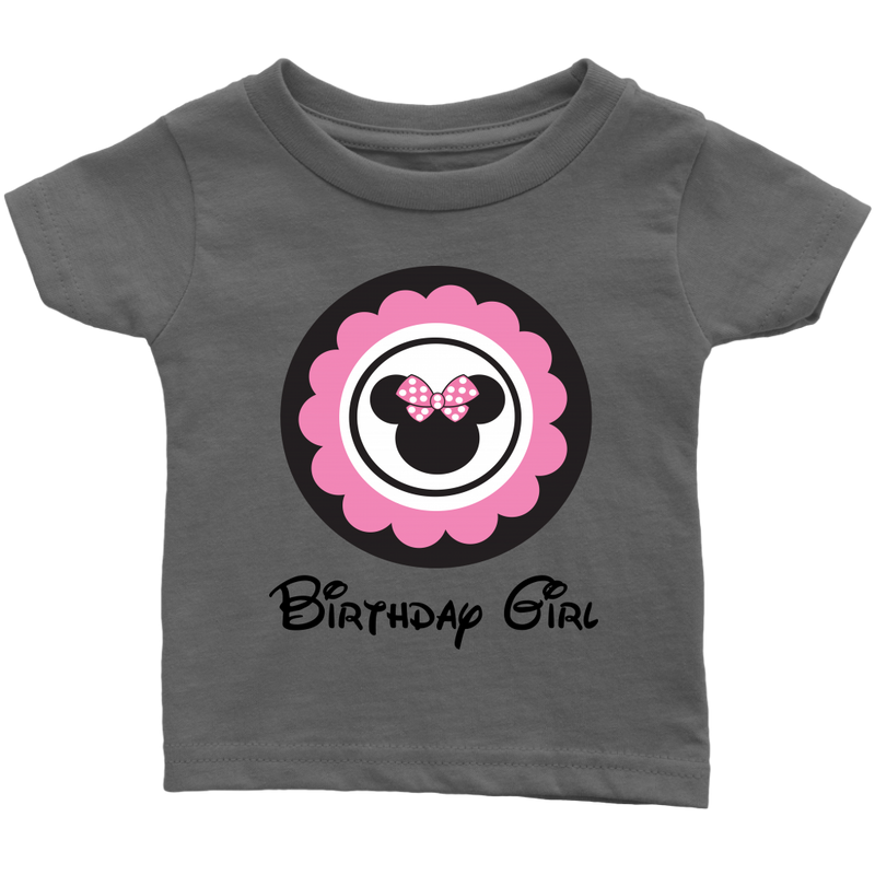 Minnie Mouse Inspired Birthday Girl Infant T-shirt