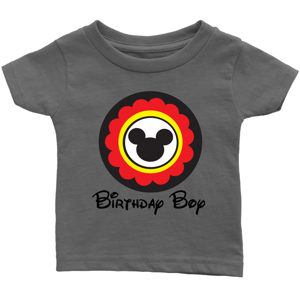 Mickey Mouse Inspired Birthday Boy Infant T-shirt