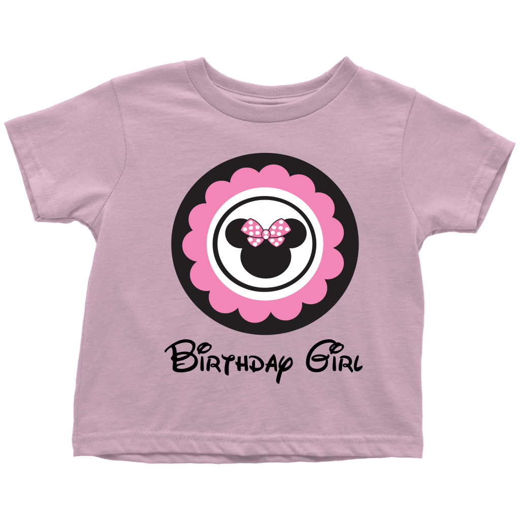 Minnie Mouse Inspired Birthday Girl Toddler T-shirt