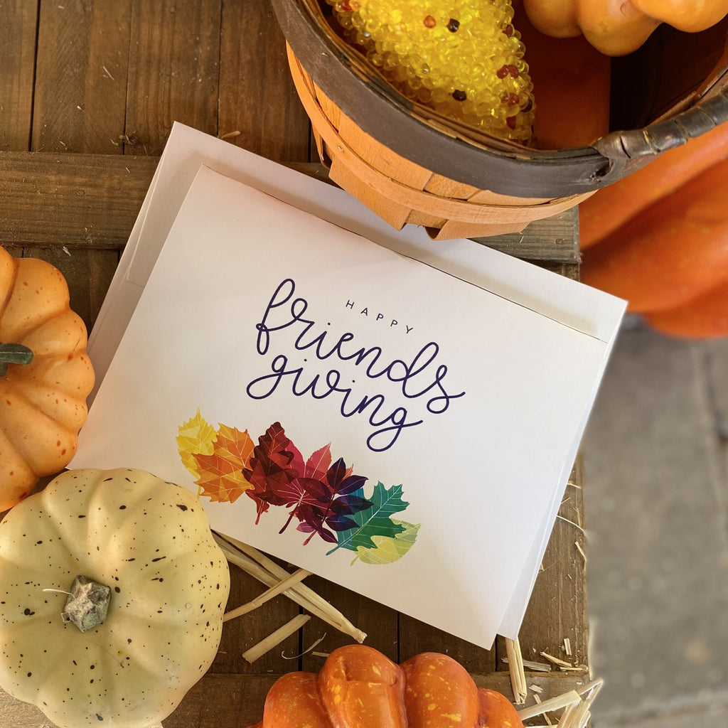 Happy Friendsgiving Greeting Cards & Envelopes (2 included)