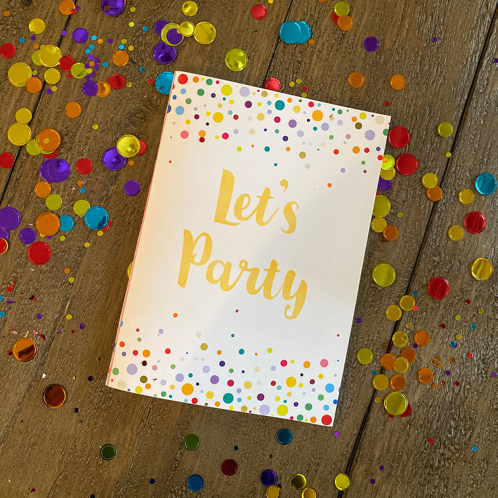 Let's Party Confetti Printable Greeting Card (Digital Download)
