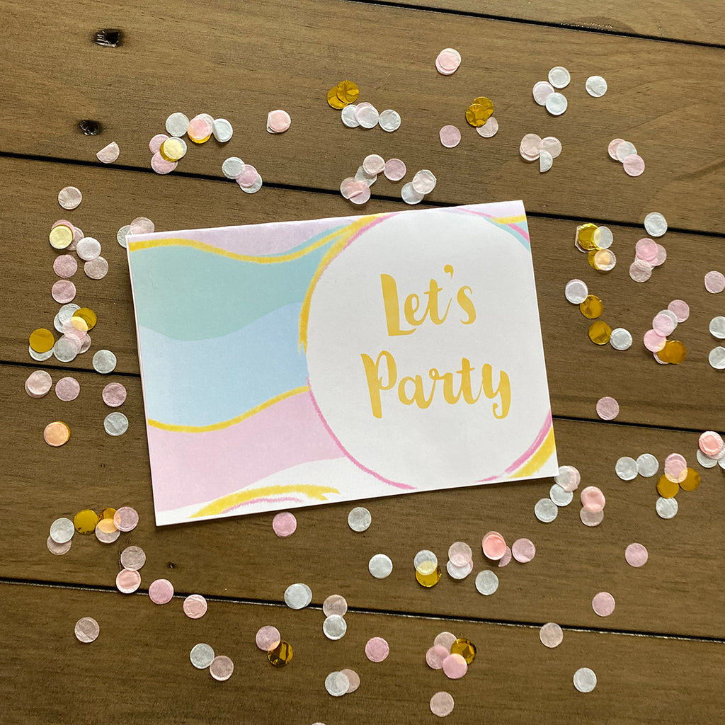Let's Party Waves Greeting Card (Digital Download)